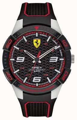 Scuderia Ferrari | apex des hommes | bracelet en caoutchouc noir | cadran noircie | 0830630