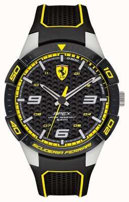 Scuderia Ferrari | apex des hommes | bracelet en caoutchouc noir | cadran noir / jaune | 0830631