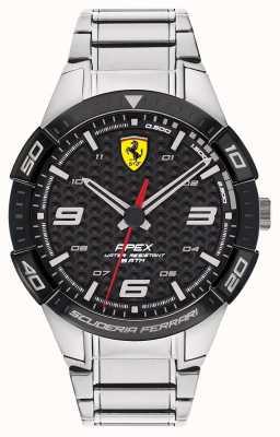 Scuderia Ferrari | apex des hommes | bracelet en acier inoxydable | cadran noir | 0830641