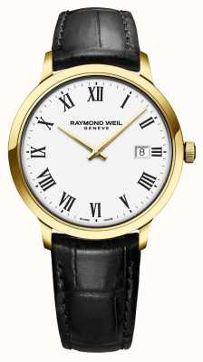 Raymond Weil | toccata pour hommes | cadran blanc boîtier en or pvd classique | 5485-PC-00300