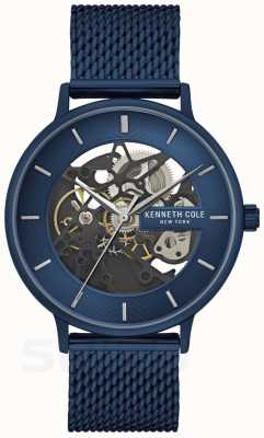 Kenneth Cole | mens automatique | sangle maille bleue | cadran bleu | KC50780003