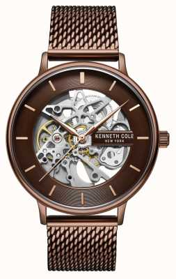 Kenneth Cole | hommes | automatique | bracelet en filet marron | cadran marron | KC50780004