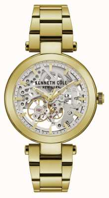 Kenneth Cole | automatique femme | bracelet jaune / or | cadran argenté | KC50799003