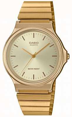 Casio | montre vintage ronde | bracelet extensible | cadran en or | MQ-24G-9EEF
