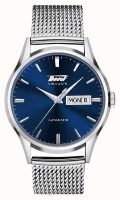 Tissot | visodate du patrimoine pour hommes | maille d'acier inoxydable | cadran bleu T0194301104100