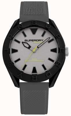 Superdry | mens osaka | bracelet en silicone gris | cadran gris | SYG2432EE