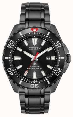 Citizen Homme Promaster Diver Eco-Drive noir plaqué PVD BN0195-54E