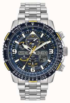 Citizen Blue Angels Skyhawk pour homme chez Eco-Drive Acier inoxydable JY8078-52L