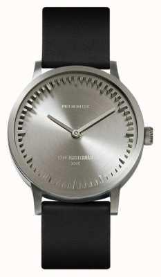 Leff Amsterdam | montre de tube | t32 | acier | bracelet en cuir noir | LT74111