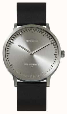 Leff Amsterdam | montre de tube | t40 | acier | bracelet en cuir noir | LT75111