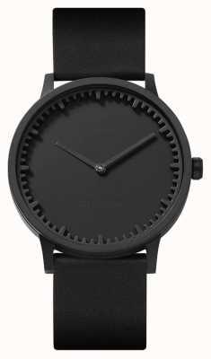 Leff Amsterdam | montre de tube | t40 | noir | bracelet en cuir noir | LT75212