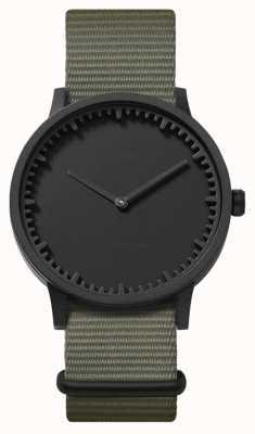 Leff Amsterdam | montre de tube | t40 | noir | bracelet nato gris | LT75252