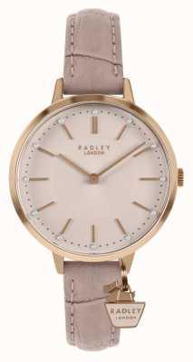 Radley   bracelet en cuir nude pour femme   cadran rose   RY2802