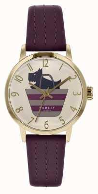 Radley | bracelet en cuir violet pour femme | chien imprimé dans le sac sac | RY2796