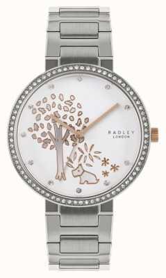 Radley | bracelet en acier inoxydable pour femmes | cadran motif arbre | RY4387