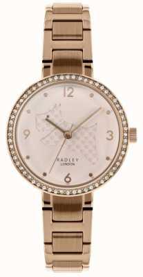 Radley | bracelet en acier pour femmes en or rose | découpé cadran chien | RY4394