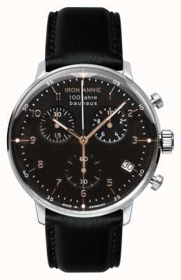 Iron Annie Bauhaus | chrono | cadran noir | Cuir noir 5096-2