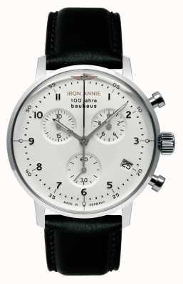 Iron Annie Bauhaus | chrono | cadran blanc | Cuir noir 5096-1