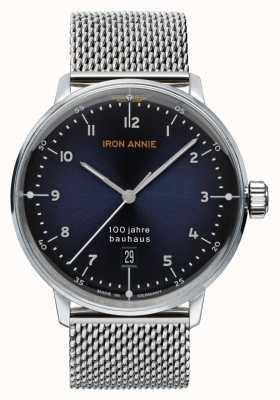 Iron Annie Bauhaus | cadran bleu | maille d'acier inoxydable 5046M-3