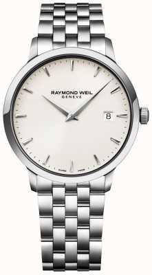 Raymond Weil Montre homme toccata cadran crème bracelet en acier inoxydable 5488-ST-40001