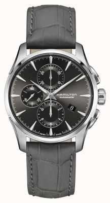 Hamilton | jazzmaster homme | bracelet en cuir d'alligator gris | cadran gris H32586881