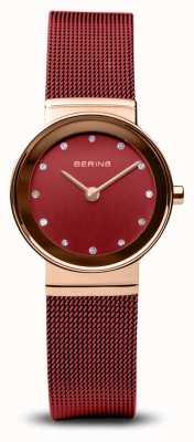 Bering Femmes | classique | bracelet en maille d'acier rouge pvd 10126-363