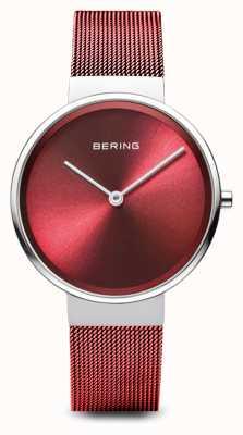 Bering Femmes | classique | bracelet en maille d'acier plaqué pvd rouge 14531-303