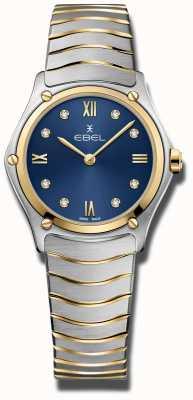 EBEL Sport classique pour femmes | cadran bleu | bracelet en acier inoxydable 1216446A