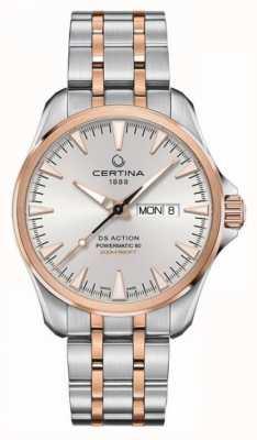 Certina | ds action day-date powermatic 80 | acier inoxydable | C0324302203100