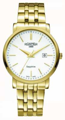 Roamer Ligne classique | acier inoxydable plaqué or | cadran blanc 709856-48-25-70