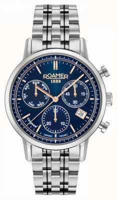 Roamer Vanguard chrono ll | bracelet en acier inoxydable | cadran bleu 975819-41-45-90