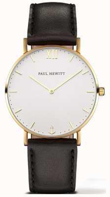 Paul Hewitt | montre de ligne unisexe marin | bracelet en cuir noir | 6450854