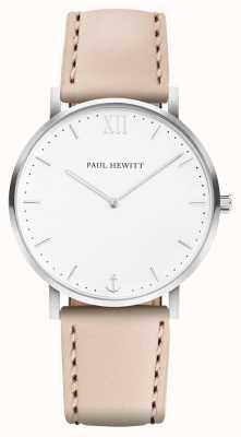 Paul Hewitt | ligne de marin pour hommes | bracelet en cuir beige | PH-SA-R-5M-W-22S