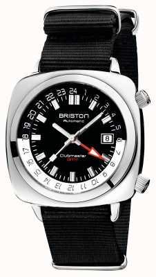 Briston Clubmaster gmt édition limitée | auto | bracelet nato noir 19842.PS.G.1.NB