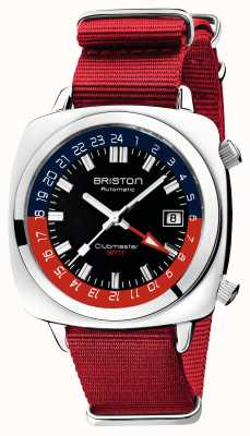 Briston Clubmaster gmt édition limitée | auto | sangle nato rouge 19842.PS.G.P.NR