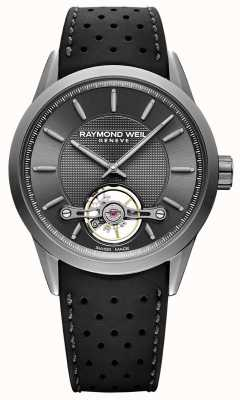 Raymond Weil Mens | pigiste cadran gris automatique | bracelet en caoutchouc noir | 2780-TIR-60001