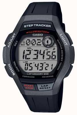 Casio | montre de sport, step tracker | bracelet en caoutchouc noir | WS-2000H-1AVEF