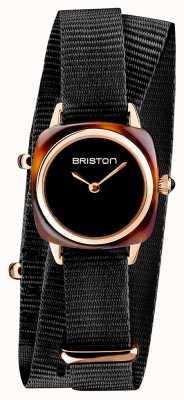 Briston | dame clubmaster | bracelet unique en nato noir | écaille de tortue 19924.PRA.T.1.NB