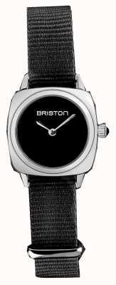 Briston | dame clubmaster | bracelet unique en nato noir | cadran noir | 19924.S.M.1.NB - SINGLESTRAP