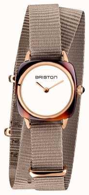 Briston | dame clubmaster | single taupe nato | acétate de tortue | 19924.SA.T.2.NT