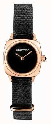 Briston | dame clubmaster | single noir nato | étui pvd or rose | 19924.SPRG.M.1.NB - SINGLESTRAP