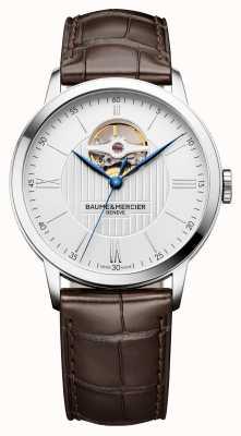 Baume & Mercier | mens classima | cuir marron | cadran argenté | automatique | M0A10274