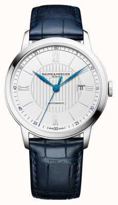 Baume & Mercier | mens classima | automatique | cuir bleu | cadran argenté | M0A10333