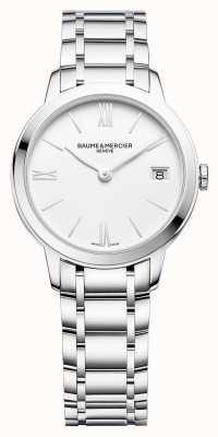 Baume & Mercier | classima femmes | bracelet en acier inoxydable | cadran blanc | M0A10335