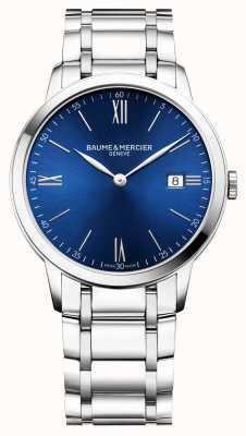 Baume & Mercier | mens classima | bracelet en acier inoxydable | cadran bleu | M0A10382