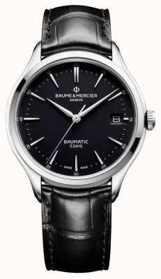 Baume & Mercier | mens clifton | baumatic | cuir noir | cadran noir | M0A10399