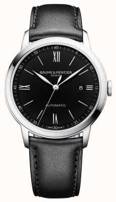 Baume & Mercier | mens classima | automatique | cuir noir | cadran noir | M0A10453