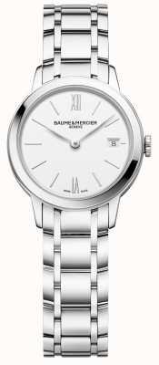 Baume & Mercier | femmes classima | bracelet en acier inoxydable | cadran blanc | M0A10489