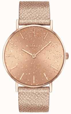 Coach | femmes | poiré | bracelet métallique | cadran à paillettes or rose | 14503322