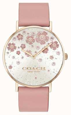 Coach | poiré | bracelet en cuir blush | cadran à paillettes florales | 14503325